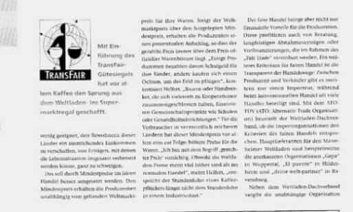{Presse} Weltläden: Fair handeln