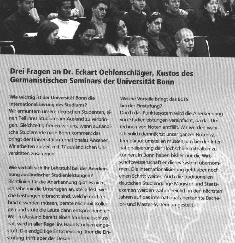 {Presse} Studieren in Europa: Lernen in der Fremde? berufebilder