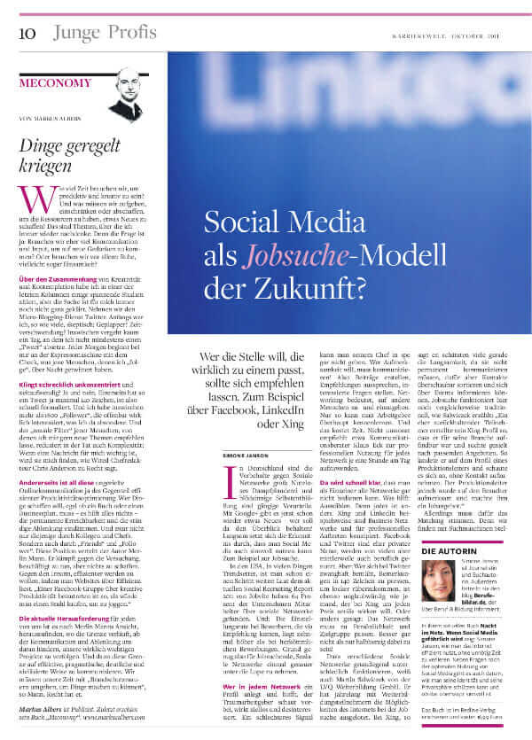{Press} Efficient dream job search in social media? Or would you prefer to be naked on the net? job-social-media-world1