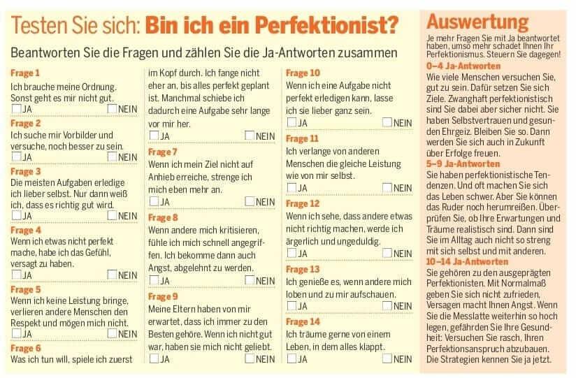 {Presse} Artikel über Perfektionismus in der Zeitschrift Gong mit mir als Expertin: 7 Strategien gegen Selbstüberforderung perfektionismus-4