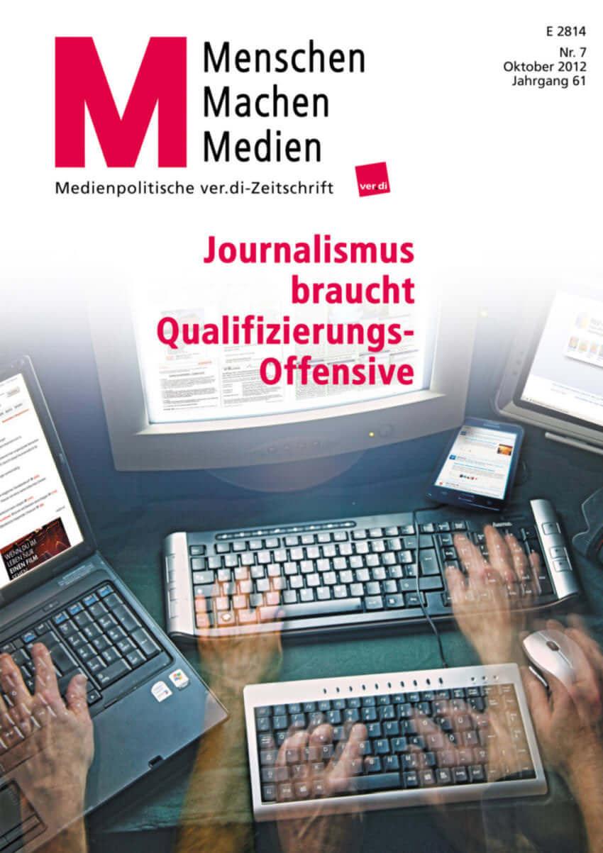 {Presse} Medienpolitisches Interview mit mir über Social-Media und Qualitätsjournalismus: Potentiale nutzen m_menschen-machen-medien_07-2012