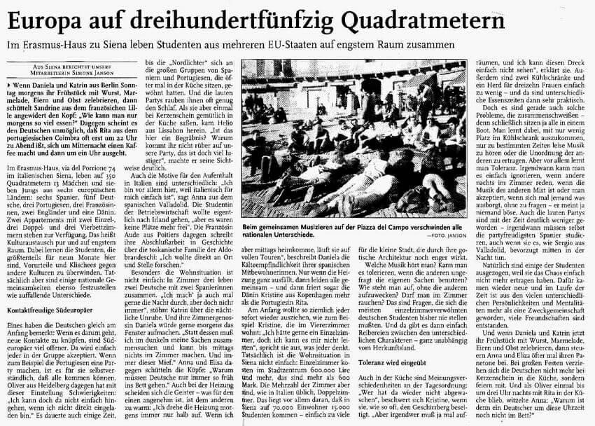 Rheinpfalz 24-4-1998 – europaeische Fragen