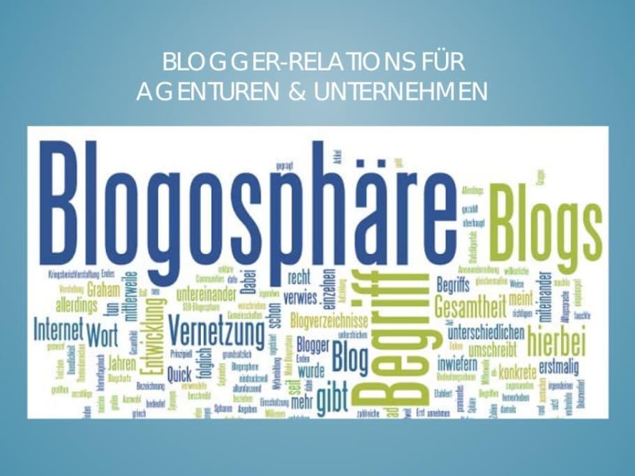 Blogger Relations Seminar