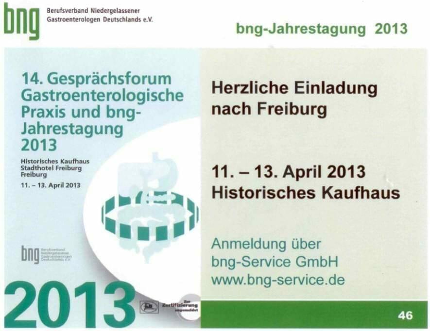 {Best of HR Live} Vortrag bei der Jahrestagung des Berufsverband der Niedergelassenen Gastroenterologen: Chancen und Risiken des Internets für Mediziner bng