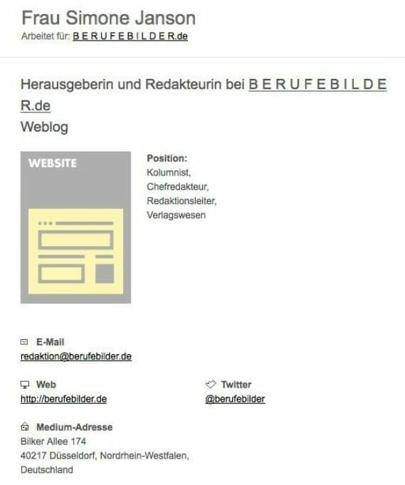 {Presse} Aufnahme in eine der renommiertesten Medien-Datenbanken: Best of HR – Berufebilder.de® im Zimpel