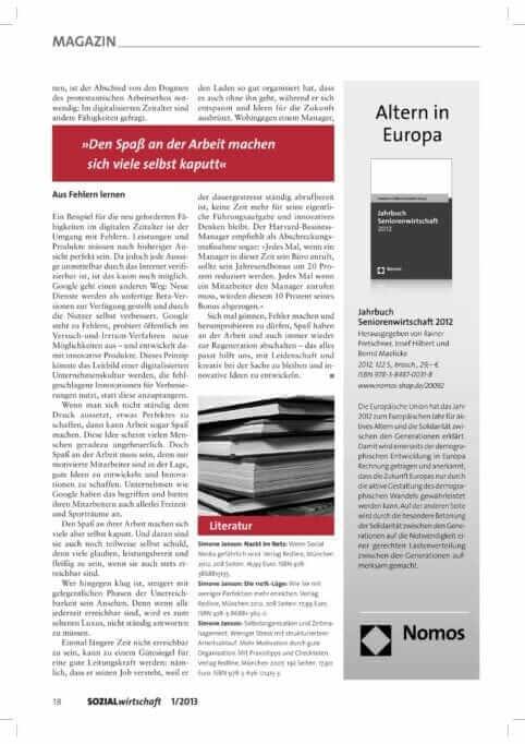{Presse} Mein Beitrag in der Zeitschrift Sozialwirtschaft: Fehler mache Spaß! Sozialwirtschaft_01_2013_Janson-2