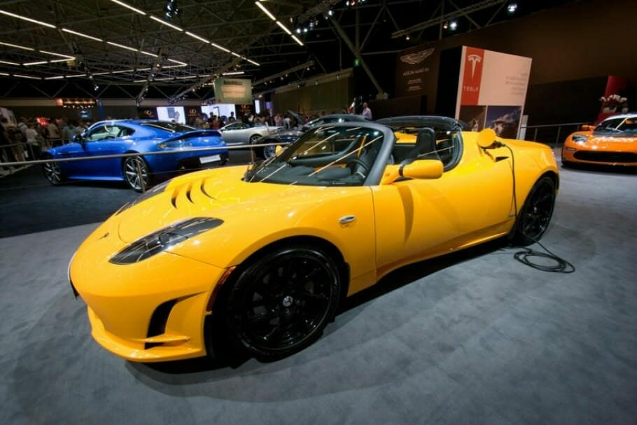 Elon Musk and Tesla: the prototype Tesla Roadster