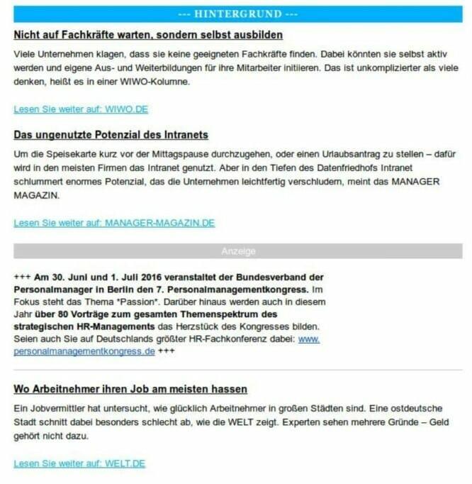 {Presse} Kolumne in der HR-Presseschau des Human Resources Managers: Bildet Eure Fachkräfte selbst aus! hr-presseschau