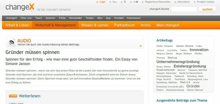 """{Presse} """"Nackt im Netz"""" bei changeX: Herbstvorschau"""