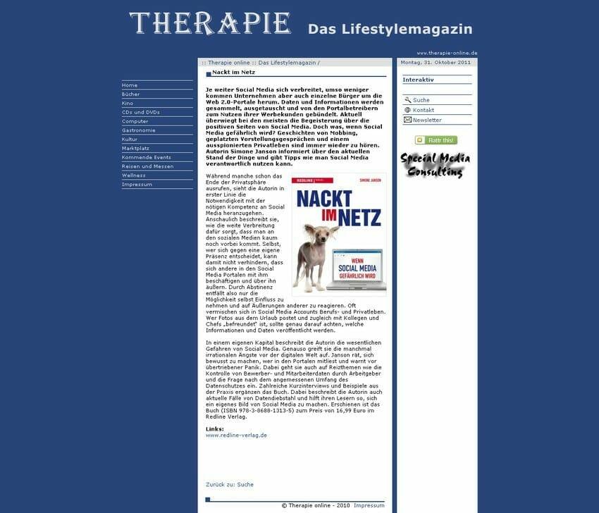 therapie-online.de 25.10.2011