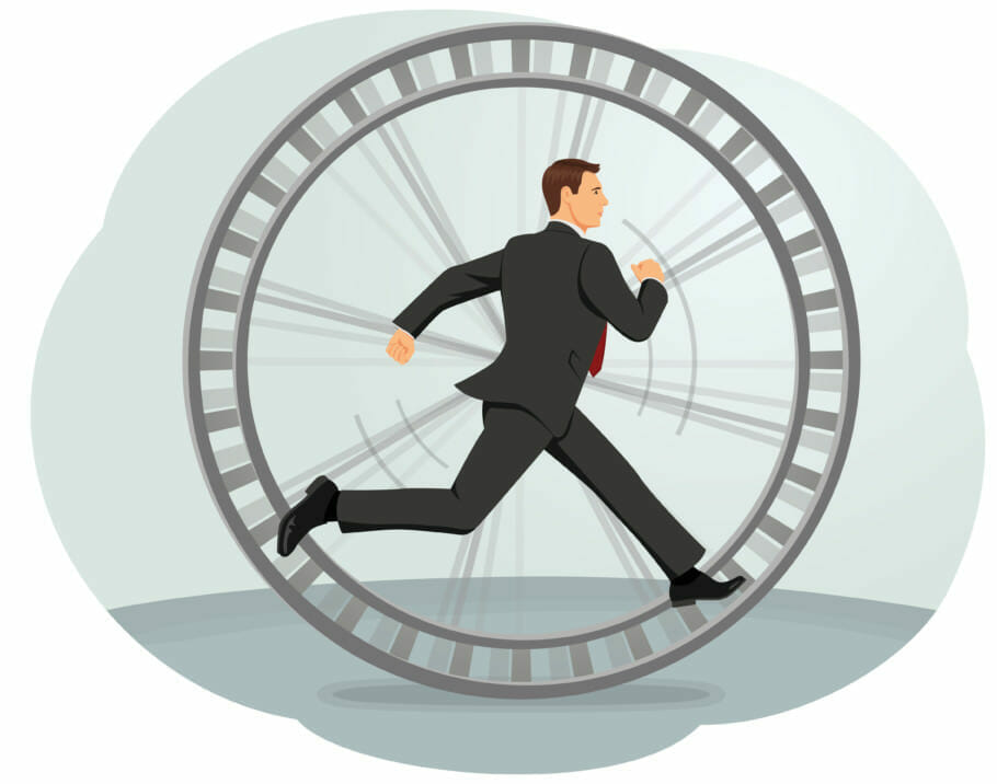 Career ladder or hamster wheel: That's how fast you become addicted to work